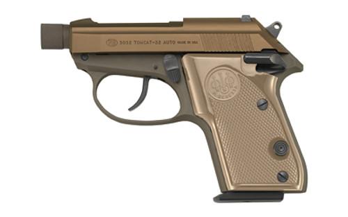 "Beretta 3032 Tomcat .32 ACP, 2.9"" Threaded Barrel, Manual Safety, FDE, 7rd"