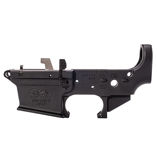 Anderson AM-9 Partial Lower 9mm, Includes Bolt Catch & Mag Release, Black