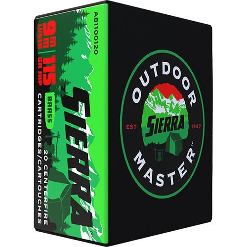 Sierra Outdoor Sport Master 9mm, 115gr, JHP, 20rd Box