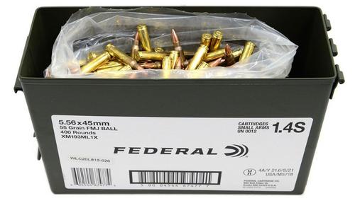 Federal American Eagle 5.56x45mm NATO, 55gr, FMJBT, 400rd