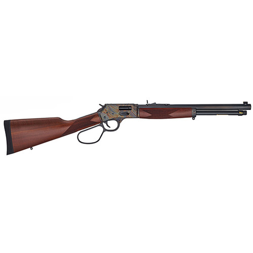 "Henry Repeating Arms, Big Boy Color Case Hardened, Lever Action, Side Gate, 44 Mag/44 Special, 16.5"" Octagon Blued Steel Barrel, Straight-grip American Walnut Stock, Fully Adjustable Semi-Buckhorn Sights, 7 Rounds"
