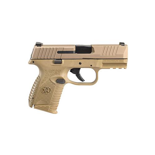 "FN 509 Compact 9mm, 3.7"" Barrel, HiViz Front, NTS, Flat Dark Earth, 15rd"