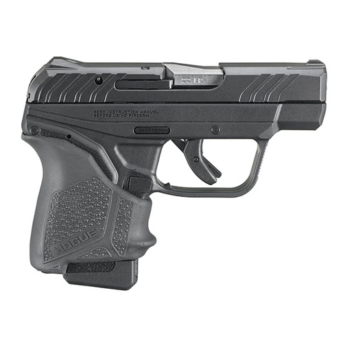 "Ruger, LCP II, Semi-automatic Pistol, Double Action Only, Compact, 22 LR, 2.75"" Barrel, Nylon Frame, Black, Hogue Grip Sleeve, Fixed Sights, 1-10Rd Magazine, Right Hand, Manual Safety"