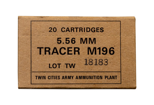 Twin Cities Armory M196 5.56x45mm Tracer, 20rd Box