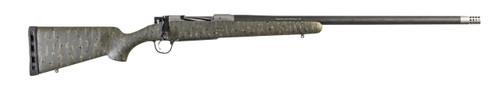"Christensen Arms Ridgeline 6.5 Creedmoor, 24"" TB, Carbon Fiber Stock, Green w/ Black & Tan Webbing, 4rd"