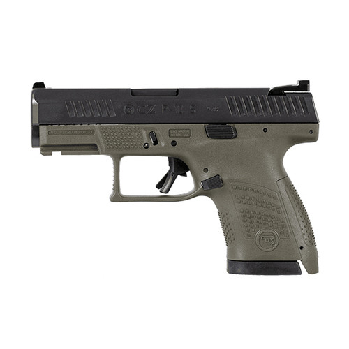 "CZ P-10S 9mm, 3.5"" Barrel, Fixed Sights, Black/OD Green, 10rd"