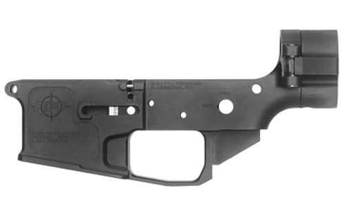 APF Side-Folding AR-15 Stripped Lower, Includes Carbine Buffer, Billet, Black