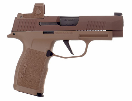 "Sig Sauer NRA P365 XL 9mm, 3.7"" Barrel, X-Ray3 & Romeo Zero, Coyote, 12rd/15rd"