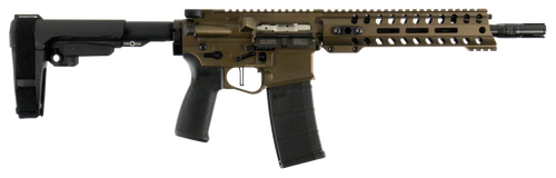 "Patriot Ordnance Factory Renegade Plus 5.56x45mm NATO 10.50"" 30+1 Burnt Bronze Mission First Battlelink Stock Black Polymer Grip"