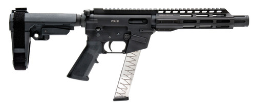 "Freedom Ordnance FX-9 9mm, 8"" Barrel, SBA3, M-LOK, Black, 31rd"