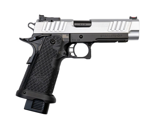 "Staccato P 9mm, 4.4"" Bull Barrel, G2, Dawson Fiber Optic, SS Slide, DLC Barrel, Black, 17rd/20rd"