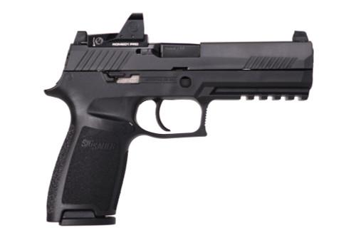 "Sig P320 Full Size RXP 9mm, 4.7"" Barrel, Romeo1 Pro Reflex, Fixed Sights, Black, 10rd"