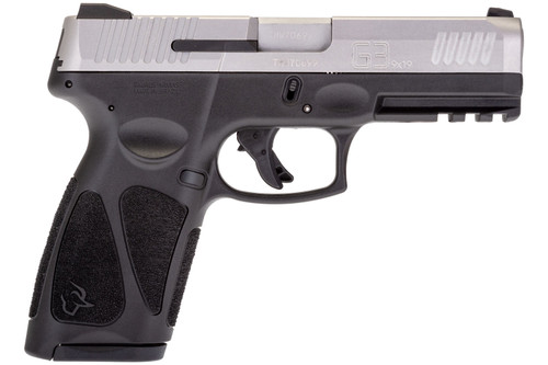 "Taurus G3 9mm, 4"" Barrel, Fixed Front/Adj. Rear Sight, Stainless Steel Slide, Black, 15rd"
