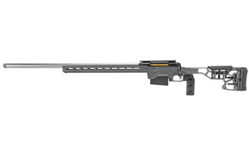 """Savage 110 Elite Precision, 6.5 Creedmoor, 26"""" Matte Stainless Barrel, Gray MDT ACC Chassis with ARCA Rail, AccuTrigger, AICS Magazine, 10Rd, Left Hand"""