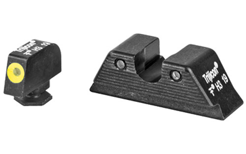 Trijicon HD XR Night Sight Set MOS Fit, Yellow Front Outline for Glock Models