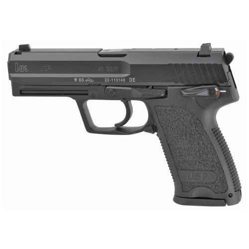 "HK USP V1 .40 S&W, 4.25"" Barrel, 3-Dot Sights, Thumb Safety, Decocker, Black, 10rd"