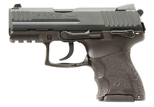 "HK P30SK V3 9mm, 3.27"" Barrel, Fixed Sights, Thumb Safety, Black, 10rd/13rd"