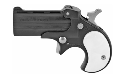 "Cobra Pistols Classic Derringer, 22 LR, 2.4"" Barrel, Alloy Frame,Black, Pearl Grips, Fixed Sights, 2Rd"