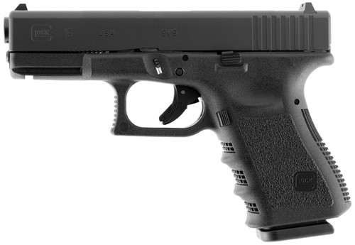 "Glock G19 Gen3 USA 9mm, 4.01"" Barrel, Fixed Sights, Black, 15rd"