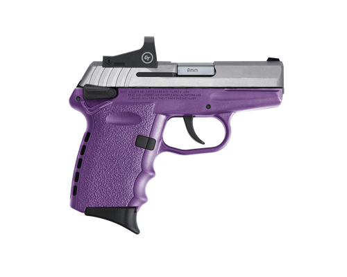 "SCCY Industries CPX-1 RD 9mm 3.10"" 10+1 Stainless Steel Slide Purple Polymer Grip CTS-1500 Red Dot"