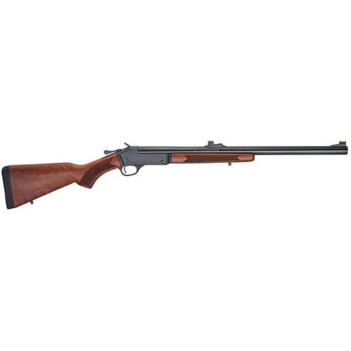 "Henry Single Shot 12 Ga, 24"" Slug Rifled Barrel, 3"" Chamber, American Walnut, Blued, 1rd"