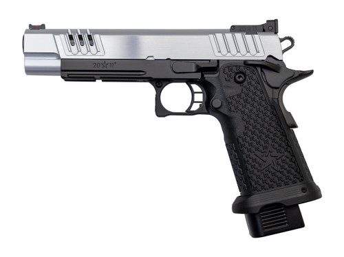 "Staccato XL 9mm, 4.4"" Bull Barrel, G2, Dawson Fiber Optic, SS Slide, DLC Barrel, Black, 17rd/20rd"