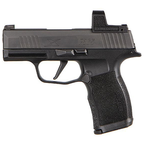 "Sig Sauer, P365X, Striker Fired, Compact, 9mm, 3.1"" Barrel, Polymer Frame, Black, Romeo Zero 3 MOA Reflex Optic, 12Rd, 2 Magazines"