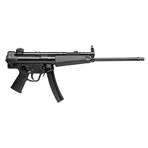 "HK SP5L 9mm, 16.5"" Threaded Navy Barrel, Rotary Rear Sight, Bungie Sling, Black, 30rd"