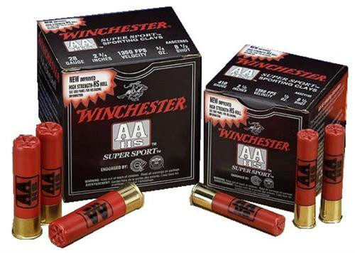 """Winchester AA Wads Sport Clay 20 Ga, 2.75"""", 7/8oz, 7.5 Shot, 25rd/Box"""