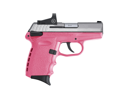 """SCCY Industries CPX-1 RD 9mm 3.10"""" 10+1 Stainless Steel Slide Pink Polymer Grip CTS-1500 Red Dot"""
