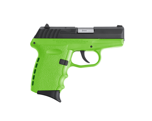 """SCCY Industries CPX-2 RD 9mm 3.10"""" 10+1 Black Nitride Stainless Steel Slide Lime Polymer Grip NMS CTS-1500 Red Dot"""
