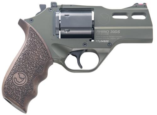 "Chiappa Rhino 30DS SAR Hunter .357 Mag, 3"" Barrel, Fiber Optic Sights, OD Green, 6rd"