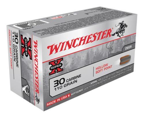 Winchester Super X 30 Carbine Hollow Soft Point 110gr, 50rd Box