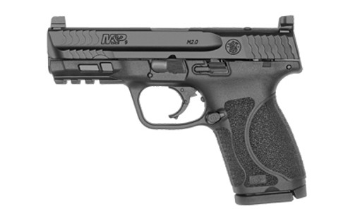"Smith & Wesson M&P9 M2.0 Compact 9mm, 4"" Barrel, Optics Ready, NTS, Black, 15rd"