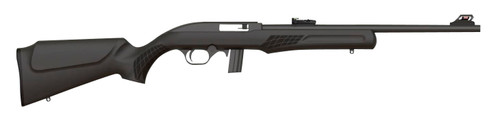 "Rossi RS22 .22 LR, 18"" Barrel, Fiber Optic Sights, Synthetic Stock, Black, 10rd"