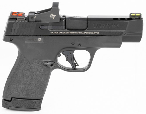 """Smith & Wesson PC M&P9 Shield Plus 9mm, 4"""" Ported Barrel, CT RDS, NTS, Black, 13rd"""