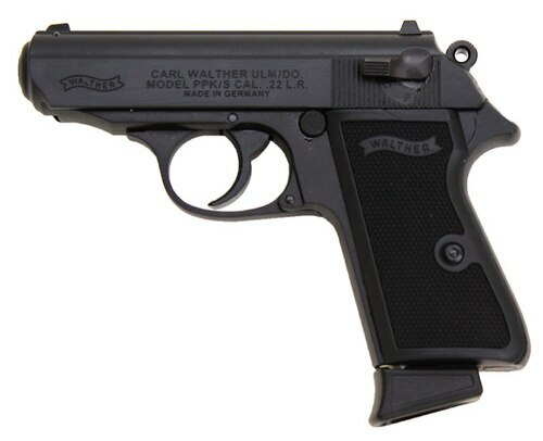 "Walther PPK/S *Certified Used* .22 LR, 3.35"" Barrel, Fixed Sights, Black, 10rd"