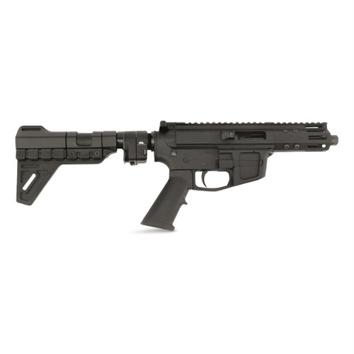 """FM-Products FMP9 9mm, 5"""" Threaded Barrel, Glock Mags, Sylvan Arms Adapter, Black"""