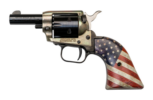 "Heritage Rough Rider Barkeep .22 LR, 2"" Barrel, US Flag Grips, Simulated Case Hardened, 6rd"