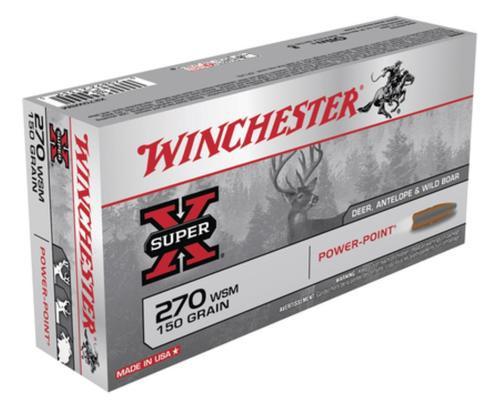 Winchester Super X 270 Win Short Mag Power-Point 150gr, 20Box/10Cs