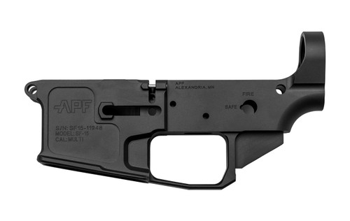 Alex Pro Firearms Stripped AR-15 Lower Receiver, Billet, Black