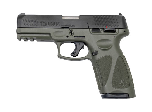"Taurus G3 9mm, 4"" Barrel, Adj. Rear/White Dot Front, OD Green, 15rd/17rd"