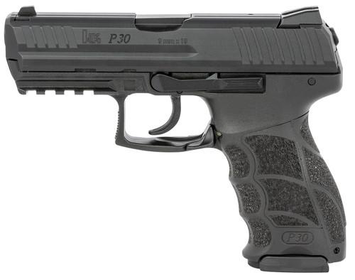 "HK P30 V1 Light LEM 9mm, 3.85"" Barrel, Fixed Sights, NTS, Black, 17rd"