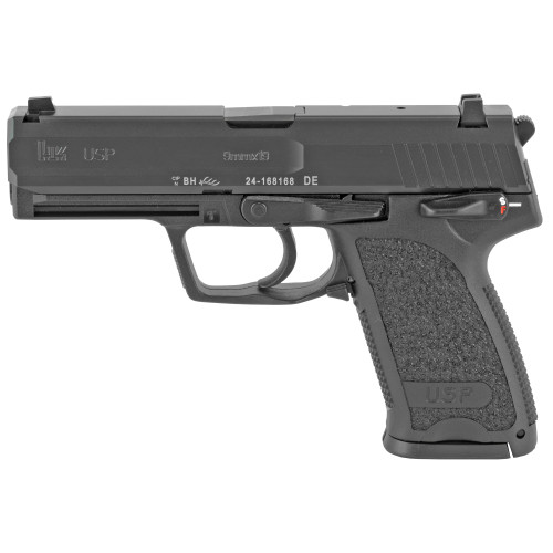 "HK USP V1 SA/DA 9mm, 4.25"" Barrel, Safety/Decocker, Fixed Sights, Black, 10rd"