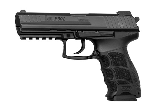"HK P30L V3 9mm, 4.45"" Barrel, Night Sights, Decocker, Black, 3x 17rd"