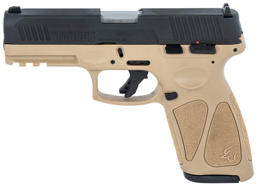 "Taurus G3 9mm, 4"" Barrel, Adj. Rear/White Dot Front, Flat Dark Earth, 15rd/17rd"
