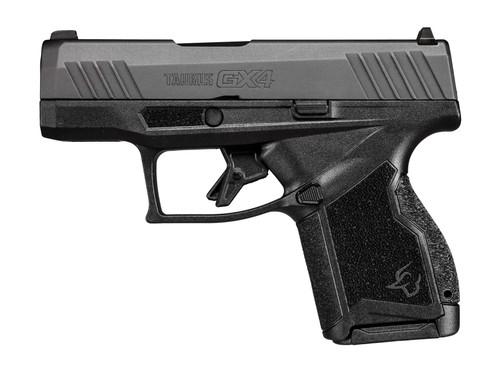 "Taurus, GX4, Semi-automatic Pistol, Striker Fired, Compact, 9mm, 3"" Barrel, Polymer Frame, Black Slide, Fixed Steel Front Sight, Drift-Adjustable Steel Rear Sight  Serrated Ramp, Two Backstrap Options, 2-10Round Magazines"