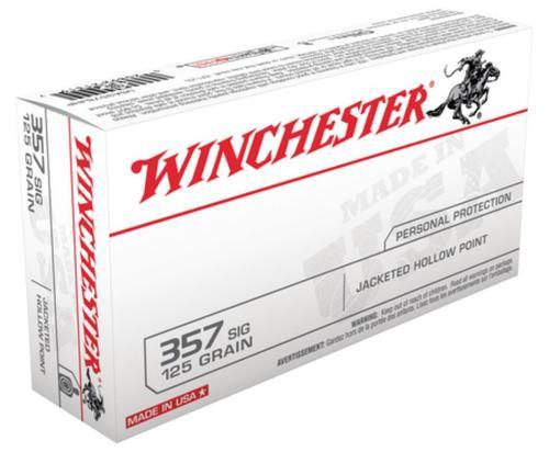 Winchester USA 357 Sig Sauer JHP 125gr, 50Box/10Case