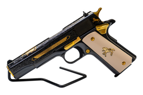 """Colt 1911 Government Armsmear .45 ACP Limited Edition 5"""" NM Barrel, Ivory Grips, Blued"""