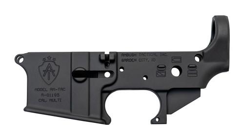 Ambush Tactical Stripped AR-15 Lower Receiver, Multi-Cal, Black